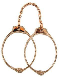 Jack Vartanian Rose gold & diamond handcuff bracelet