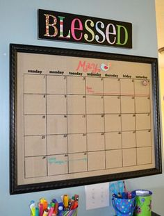 What's not to love about a magnetic dry erase calendar? I have had the picture frame glass dry erase calendar in my house for about a year now.  I originally saw it on Nannygoat who saw a si…