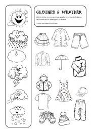 english worksheets clothes and weather winter pinterest best worksheets weather and. Black Bedroom Furniture Sets. Home Design Ideas