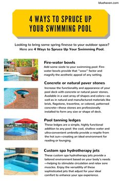 Check out these 4 ways to upgrade your pool this year!
