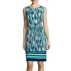 jcp | Liz Claiborne® Sleeveless Belted Shift Dress