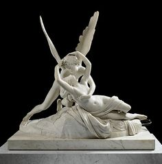 Psyche Revived by Cupid's Kiss, by Antonio Canova, in the Louvre Museum