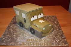 Sew Sweet: Sarge from Cars    My son would like a Sarge Cake from Cars for his 4th birthday. This is cute, but not sure I want to do something like this... thinking... thinking...