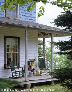 A wonderful, rustic farmhouse porch (just like my grandmother's porch)-Memories!