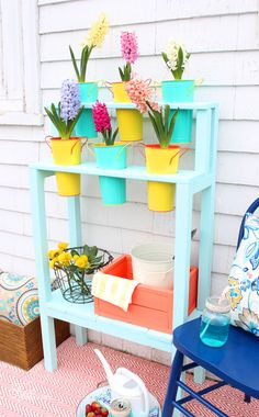 Easy to build DIY Patio Planter for $10!! How to build an easy DIY patio planter You will need:  3- 2x2x8 spruce 1- 1x6x8 spruce jig saw, chop saw Brad nailer or screws Gorilla Glue, pencil Paint