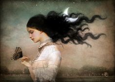 Poster   SHE LIKES THE NIGHT von Christian Schloe   more posters at http://moreposter.de
