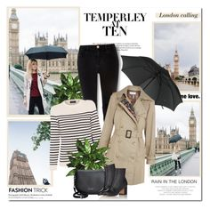 """""""London rain!!"""" by lilly-2711 ❤ liked on Polyvore featuring Temperley London, River Island, Saint James, Gucci, Facetasm and Hedi Slimane"""