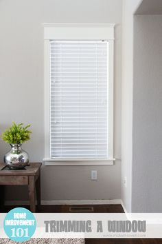 Home Improvement: Trimming a Window (replacing the sill & apron, adding side/top molding) Or for windows that don't have any trim. Home Improvement Projects, Home Projects, Interior, Interior Windows, Home, Home Improvement, Diy Home Improvement, Home Remodeling, Home Diy