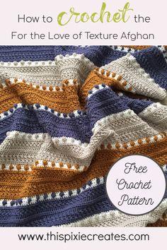 Crochet Afghans, Crochet Throw Pattern, Afghan Crochet Patterns, Baby Blanket Crochet, Knitting Patterns, Crochet Blankets, Dishcloth Crochet, Knitting Tutorials, Afghan Blanket
