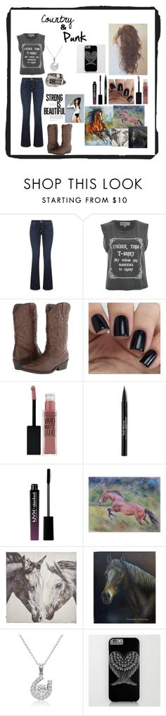 """""""My Style"""" by betheirvoice ❤ liked on Polyvore featuring True Religion, Wildfox, Madden Girl, Nocona, Maybelline, Trish McEvoy, NYX, Pier 1 Imports and Amanda Rose Collection"""