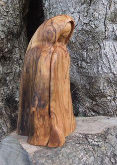 PEACE hand carved olive wood sculpture by ellenisworkshop on Etsy, $180.00