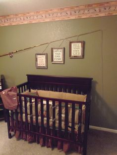 Our nursery, fly fishing themed of course  :)