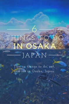 There are so many things that you could do in Osaka. Visit the aquarium, hop on a ferris wheel, eat some delicious sushi... The options are endless