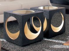 black chic side tables, modern furniture