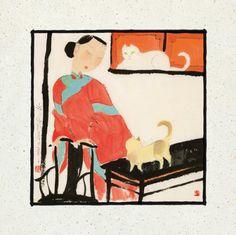 Hu Yongkai (China, born 1945) - BONHEUR DE LIRE