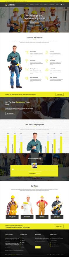 Constro is clean and modern design 5in1 responsive #WordPress theme for professional #construction and building #company website download now >