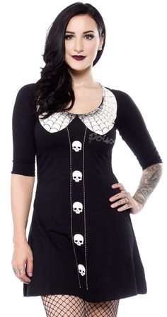 KREEPSVILLE 666 THURSDAYS POISON FLARE DRESS