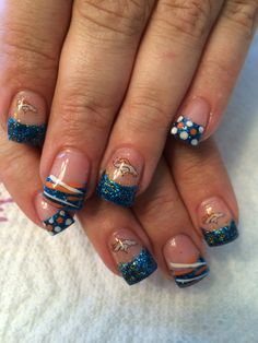 Broncos nails ;) by Hilary Asay