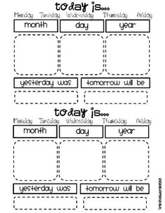 Student calendar math! Students have their own morning journals, cut and paste the journal entry on to a new page each morning! Then students can do a writing response of some kind underneath. Great for morning work!