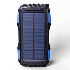 Soluser Portale Solar Power Bank Shockproof/Dustproof USB Output Battery Bank, Outdoor Solar Charger Phone External Battery with Strong LED light for iPad iPhone Android cellphones Solar Phone Chargers, Solar Charger, Portable Charger, Phone Accesories, Portable Solar Power, Lumiere Led, Ipad, Samsung, Led Flashlight