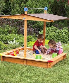 Sand Box With Shade / Add  #SunBlock  And It's On  #SummerTimePlay