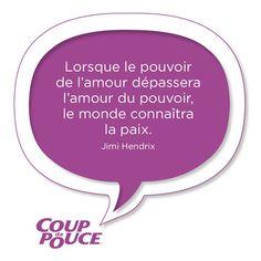 #citation #amour #pouvoir #paix