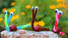 Meget nem kastanjesnegl « Agnes´ kreative univers - Best Pins Nature Crafts, Fall Crafts, Diy And Crafts, Crafts For Kids, Arts And Crafts, Holidays Halloween, Halloween Decorations, Ladybug Garden, Autumn Instagram