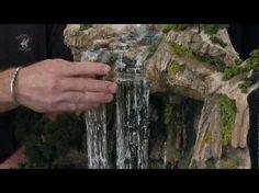 Cómo hacer cascada y rápidos para un diorama