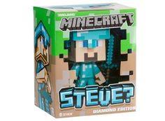 Collectionne ton personnage favori du jeu vidéo Minecraft grâce à la #figurine Vinyl de #Steve édition Diamond. Cette figurine est en plastique et mesure 15cm. #Minecraft