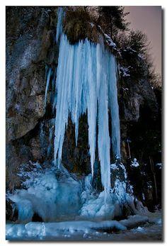 Grotte di Valganna (Varese) - Cascata di ghiaccio Lombardy