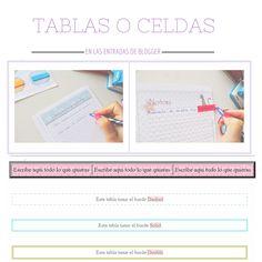 Hacer tablas en las entradas de Blogger