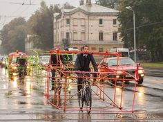 Urban Intervention: cyclists demonstrate the space occupied by cars - 6