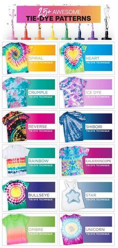 How To Tie Dye, Tie And Dye, Tie Dye Steps, Kids Tie Dye, Cool Tie Dye Patterns, Advanced Tie Dye Patterns, Tie Dye Shirt Patterns, Tye Die Patterns, Tie Dye Folding Techniques