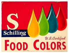 Remember those little bottles of food coloring? Food coloring cakes and cupcakes! Vintage Advertisements, Vintage Ads, Vintage Food, Vintage Stuff, Vintage Menu, Vintage Gypsy, Vintage Labels, Vintage Items, Sweet Memories