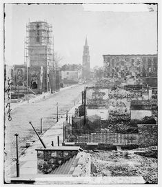 View of Meeting Street, Looking South Toward the Circular Church, the Mills House, and St. Michael's Church - Charleston, SC, 1865