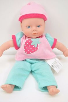 "Mini Baby Doll Cititoy Baby Strawberry Outfit Blue eyes Circo Target 8"" #Cititoy #DollswithClothingAccessories"