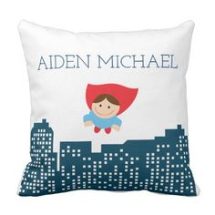 Calling All Superheroes Super Hero Pillow - home gifts ideas decor special unique custom individual customized individualized