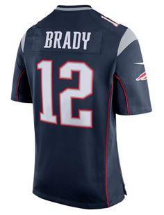 mens tom brady new england patriots nike navy blue game jersey