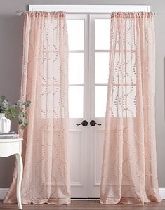 CHF Dixon Wave Blush Polyester Light Filtering Single Curtain Panel at Lowe's. Accentuate your light, springtime style with these flirtatious Dixon Wave Pole Top Curtain Panels. Sheer Curtain Panels, Rod Pocket Curtains, Grommet Curtains, Window Panels, Blush Curtains, Drapes Curtains, Bedroom Curtains, Girls Room Curtains, Valances
