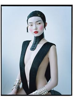 Xiao Wen Ju photographed by Tim Walker for W Magazine
