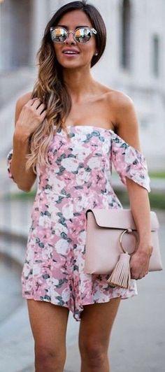 #summer #elegant #feminine | Pretty Pink Romper