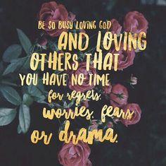 No time for drama...the Kingdom of God is near
