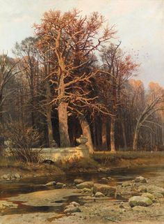 laclefdescoeurs: Woodside Stream, 1890, Ivan Ivanovich Shishkin