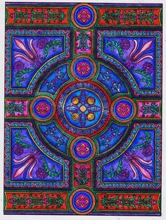 """Amazon.com - Dover Publications-Decorative Tile Designs Coloring Book - Coloring Books For Adults By Dianne Schuch Lindsey """"Dadita"""" on May 15, 20"""