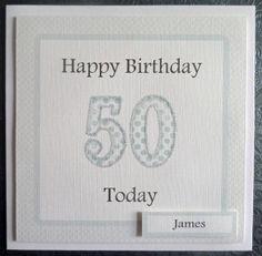 Personalised Male 50th Handmade Birthday Card - SC67 £2.75