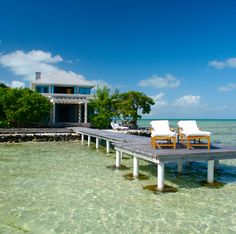 Cayo Espanto, located in the western Caribbean off the coast of Belize, is a four-acre private-island resort with only five villas and one over-water bungalow.