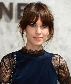 Pinterest explained that one of the hair trends that has seen an increase in searches is the 'French girl fringe' (Alexa Chung executes the fringe perfectly)