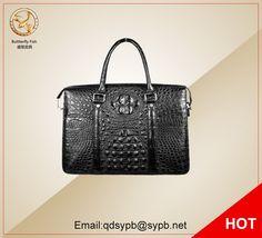 945.00$  Buy here  - Butterfly Fish Men Crocodile Genuine Leather Handbag Business Man's Briefcase Fashion Stylish