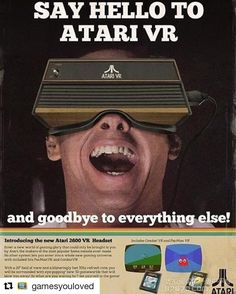 #Repost @gamesyouloved with @repostapp We've had #VR for years .....haven't we atari ! #retrogaming #yearsahead