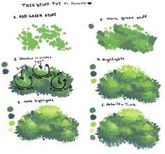 草 木 背景 厚塗り リアル
